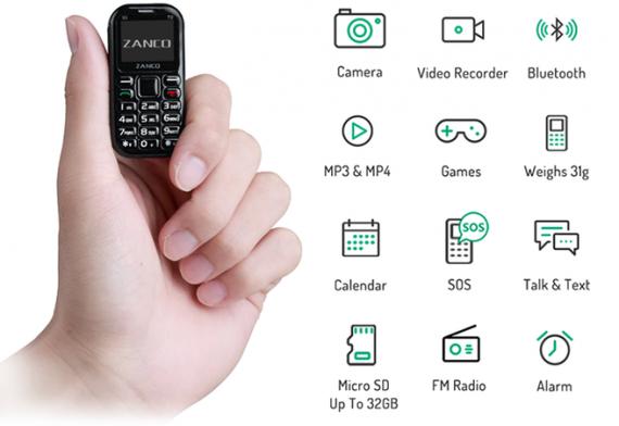 Создана новая версия самого крошечного телефона в мире