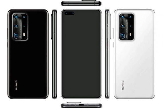 Huawei P40 Pro с пентакамерой показался на качественном рендере