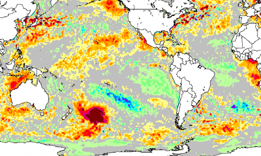 В Тихом океане образовалась гигантская тепловая аномалия