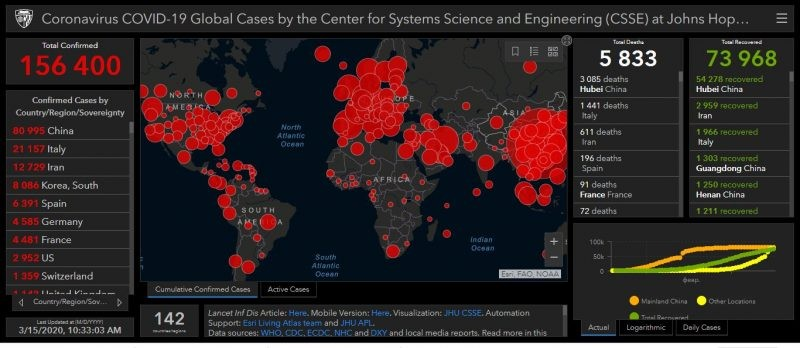 Карта распространения коронавируса: количество заболевших продолжает расти