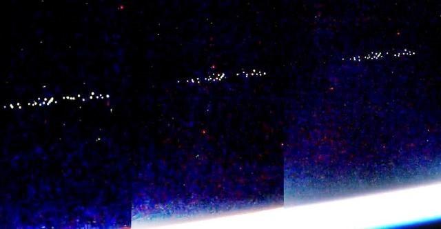 Камеры МКС зафиксировали огромное количество НЛО возле Земли