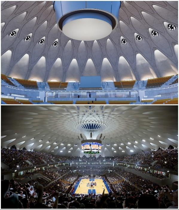 В Китае стоится спортивный комплекс-городок, утопающий в зелени
