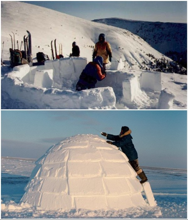Технологии ледяных иглу: - 40° на улице и + 20° внутри