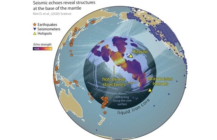 На границе ядра и мантии обнаружены ранее неизвестные структуры