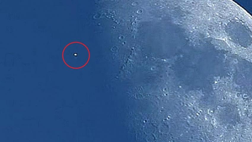 Возле Луны на большой скорости промчался таинственный объект