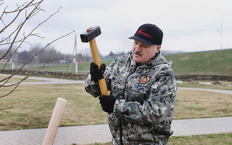 Александр Лукашенко участвовал в субботнике 17 апреля 2021 года