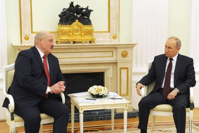 О чем говорили на двухсторонней встрече 22 апреля 2021 года Путин и Лукашенко