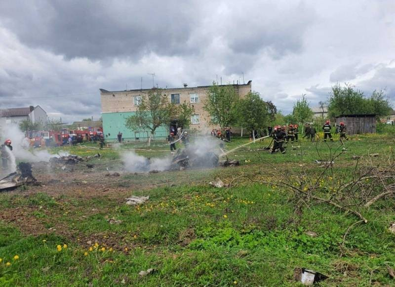 Упал почти на жилой дом: в Беларуси 19 мая 2021 года потерпел крушение военный самолет Як-130