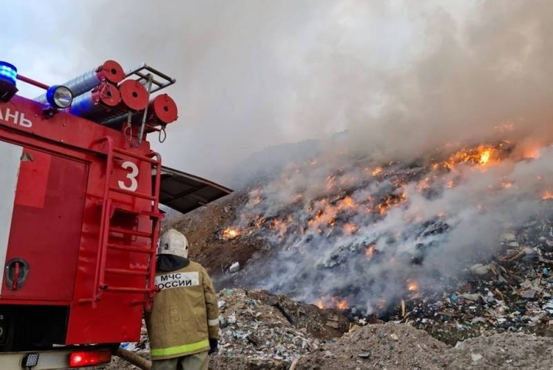 Пожары на свалках бытовых отходов могут стать причиной раковых опухолей и генных мутаций