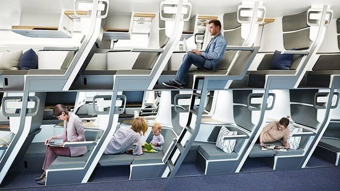 Стало возможным пассажирские самолеты эконом-класса сделать более похожими на плацкарт поезда