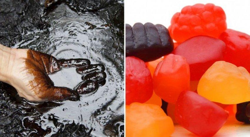 Продукты питания с содержанием нефти